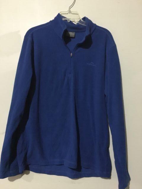 Kathmandu 1/2 Zip Fleece Blau Men Warm Größe L Sweater Warm Coat Athletic