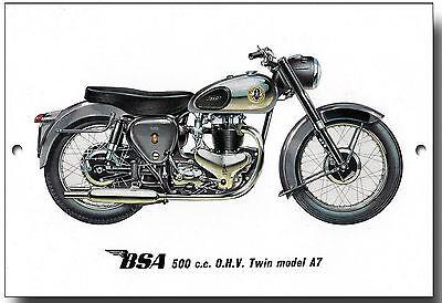 BSA 250CC O.H.V.STAR MODEL C15 METAL SIGN.VINTAGE BRITISH MOTORCYCLES.