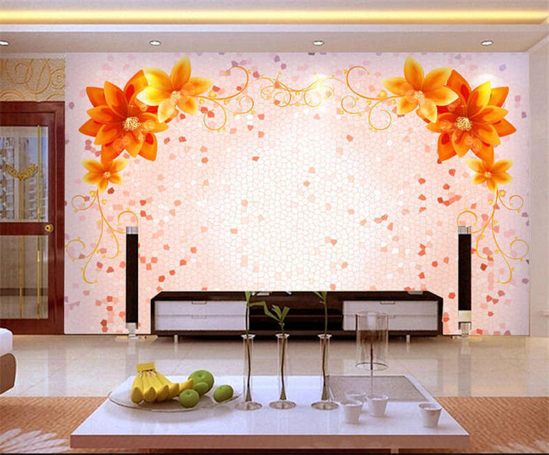 Current Gelb Leaf 3D Full Wall Mural Photo Wallpaper Printing Home Kids Decor