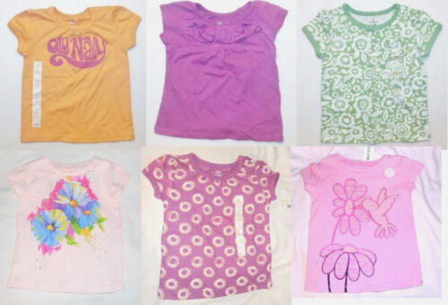 Old Navy Toddler Girls Short Sleeve T-Shirts Various Colors Patterns Sizes NWT