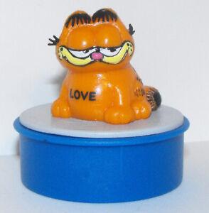 Garfield-with-Love-Blue-Ink-Stamper-Plastic-Figurine-Figure