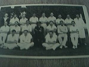 postcard size rp old undated navy cricket team sports team - Leicester, United Kingdom - postcard size rp old undated navy cricket team sports team - Leicester, United Kingdom