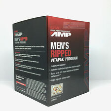 GNC Pro Performance AMP Men's Ripped Vitapak Program 30 Paks FREE SHIPPING