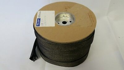 "5 YARDS A/&P 2/"" BRAIDED CARBON FIBER SLEEVE HEXCEL AS4C 12K TOW"