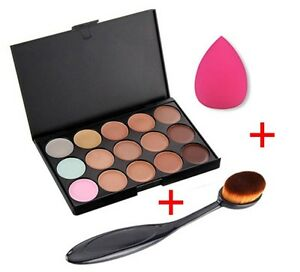 15-color-Maquillaje-Contorno-Crema-facial-corrector-paleta-ESPONJA