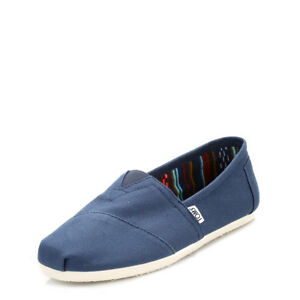 8cdecac3d63 TOMS Classic Mens Espadrilles Navy Blue Canvas Slip On Flats Casual ...
