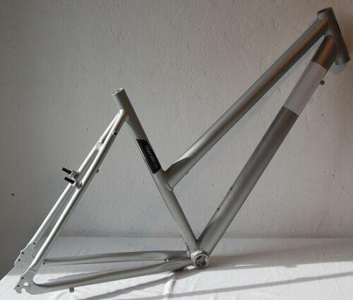 28 Zoll Fahrradrahmen H 50 cm  Damen Trapezrahmen Trekkingrad silber