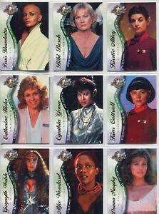 Star-Trek-Cinema-2000-Female-Guest-Stars-9-Chase-Card-Set-F1-to-F9