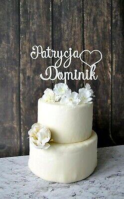 Kuchendeckel Tortenfigur Tortenstecker personalisiert Hochzeit Cake topper