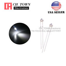 100pcs 1.8mm Transparent Water Clear White Light LED Diodes High Quality USA