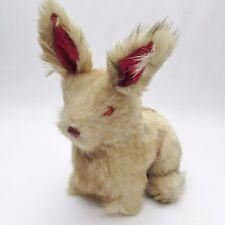 Soft Fur Bunny Rabbit Soft Statue Doll Figure