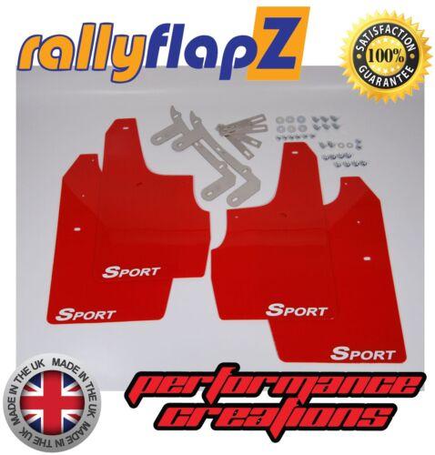 "03-07 Parafanghi RallyflapZ 4mm PVC ROSSO /""Sport/"" Bianco ANTERIORE SKODA FABIA VRS"