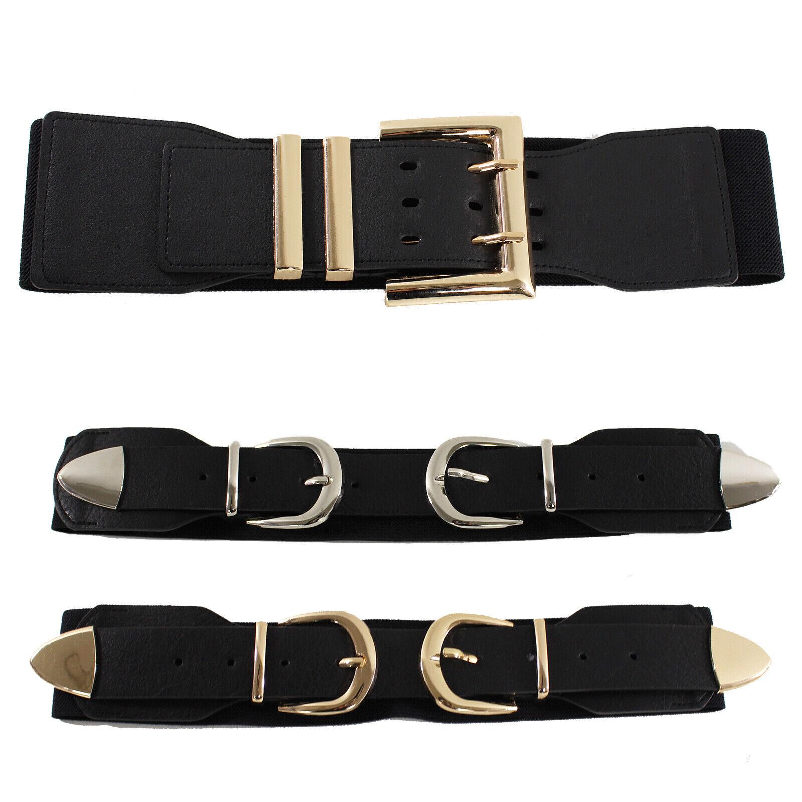 iwobi Cinture da Donna,2 pezzi Elastico Cintura Fiore Decorativa in Metallo,Oro Argento