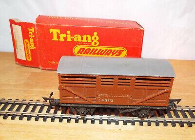 Amabile Triang Railways R122 Cattle Wagon Long Wheel Base