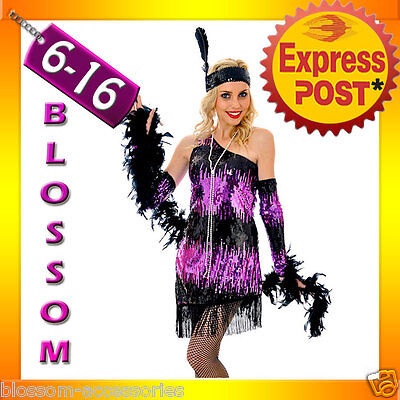 I6 Ladies 1920s Flapper Dress Roaring 20s Gatsby Costume Fancy Party Outfit