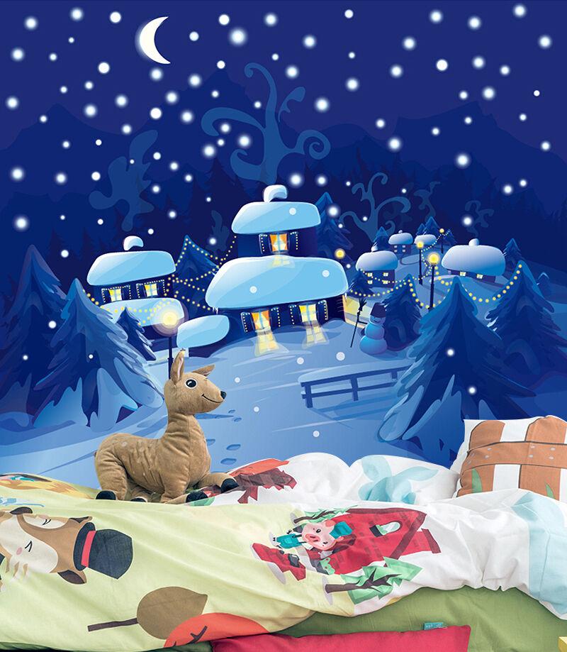 3D Christmas Snow view WallPaper Murals Wall Print Decal Decal Decal Wall AJ WALLPAPER ee09fd