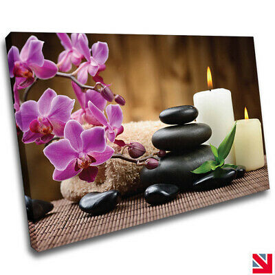 Aromatic Candles /& Zen Stones Canvas Wall Art Picture Print