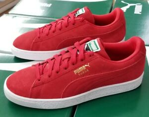 brand new c7f63 c89a3 Details about PUMA SUEDE CLASSIC 356568 63 HIGH RISK RED - WHITE MENS