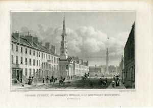 George-Street-St-Andrew-S-Church-Nelville-S-Monument-Engraving-By-T-Barber