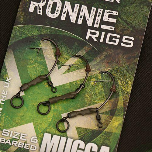 Gardner Tackle Mugga Ronnie Rigs Barbed Carp Fishing Method Or Chod Rig PVA Hook