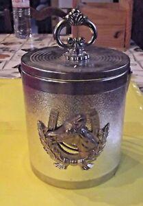 Ancien-Seau-a-Glace-Pile-ornement-Cheval-Horse-Vintage-ice-bucket-rafraichisseur