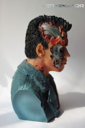Terminator Salvation T800 1//4 Bust Figure Statue Resin Handmade Toy Collectibles