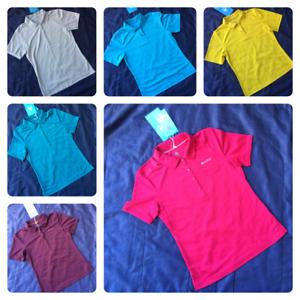 Womens ODLO Short Sleeve Polo Shirt Casual Active Ladies Top T-Shirt Size 10-12