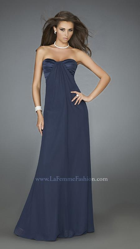 NWT NAVY blueE LA FEMME PROM PAGEANT FORMAL DRESS GOWN SIZE 8