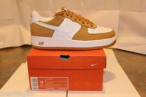 Nike AF 1 Limited Edition 3562 of 4008 numbered white/white-wheat 10-COLLECTIBLE
