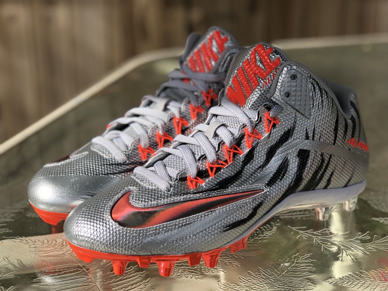 Brand discount Nike Alpha Pro 2 3/4 TD LE 2.0 Metallic Silver Football Cleats 820280-060 Price reduction