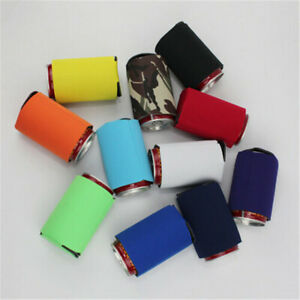 10x Neoprene Insulation Beer Can Cooler Cover Soda Drink Can Cooling Sleeve