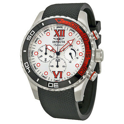 Invicta Signature II Chronograph Silver-tone Dial Stainless Steel Mens Watch