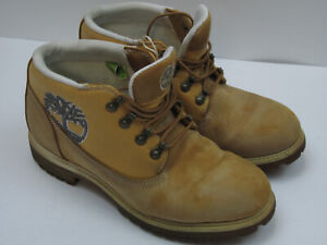 Details about Timberland Men's Size 10 M Wheat Leather Lace Up Waterproof Hiking Boots 6388