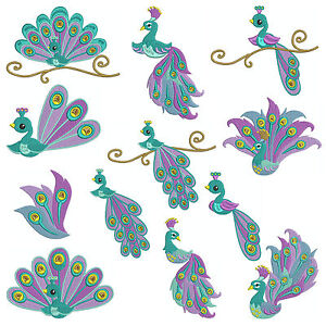 Details about * PEACOCK 1 * Machine Embroidery Patterns * 12 designs x 3  Sizes