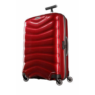 NEW Samsonite Firelite Spinner Suitcase Chili Red Medium 75cm