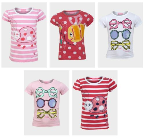 BABY GIRL/'S MINOTI SHORT SLEEVE T SHIRT VARIOUS DESIGNS 12-18 18-24 MONTHS