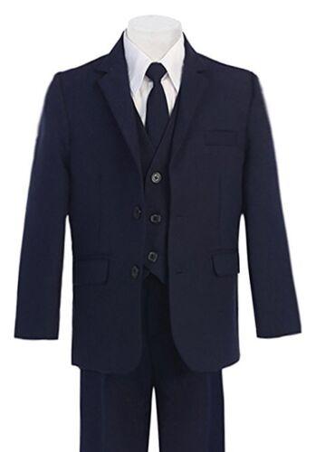 Formal Big Boys Suit Slim Cut 5 Ps Set Jacket Pants Vest Dress Shirt Tie 2t 20