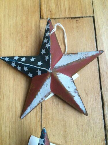 """12 PATRIOTIC AMERICANA BARN STARS 3.5/"""" PRIMITIVE RUSTIC AMERICAN DECOR DOZEN"""