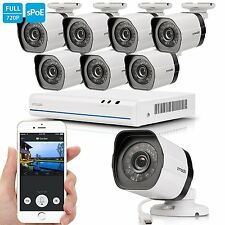 Zmodo 8 Channel 720p NVR System 8 HD IP Simplfied PoE Security Camera Camera NO