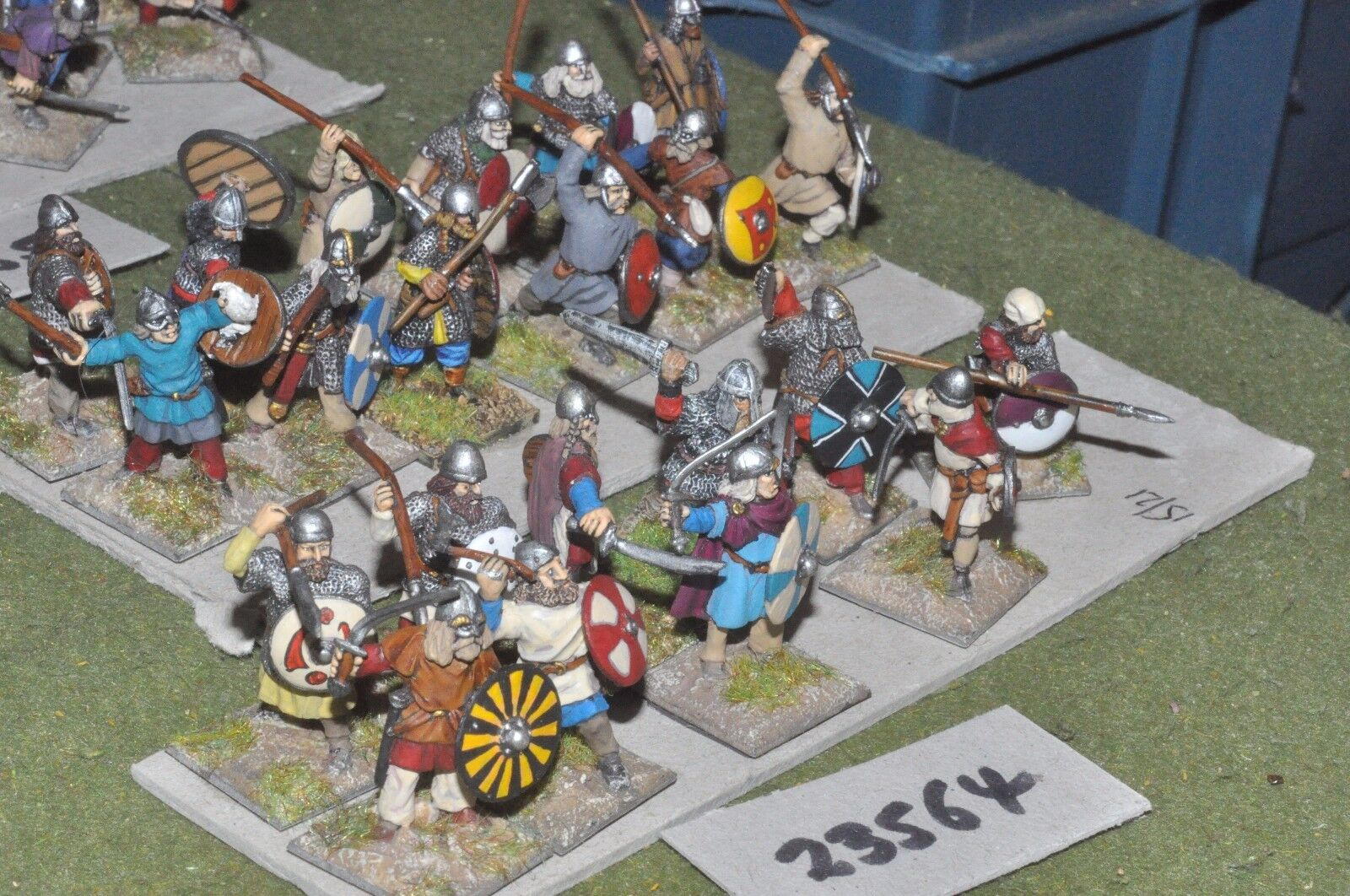 25mm dark ages   viking - warriors 22 figures - inf (23564)