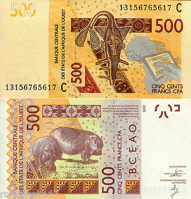 BURKINA FASO 500 Francs Banknote World Money Currency BILL 2012 Note West Africa
