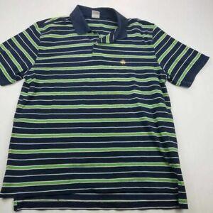 Brooks-Brothers-Mens-346-Polo-Shirt-Blue-Green-Stripe-100-Cotton-Short-Sleeve-L