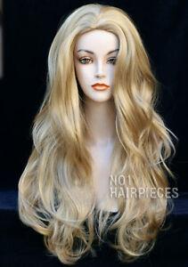Larga-Ondulada-Rubia-Para-Mujer-Damas-Moda-Peluca-Resistente-Al-Calor-Nuevo-Con-Etiquetas-Wigs-Reino