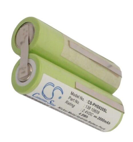Batterie 2000mAh type 138-10609 Pour Philips Philishave Coolskin HQ6764