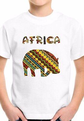African giraffe family cool Kids Boys Girls Unisex White birthday Top T shirt 15