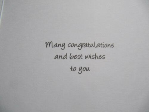 LOVELY COLOURFUL BOTTLE OF POPPING CHAMPAGNE WEDDING DAY GREETING CARD
