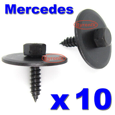 20x Hex Screws For Mercedes Undertray Splash Guard Engine Cover 8mm With Washer