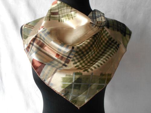 Nicki sciarpa 50 x 50 cm sciarpa motivo a quadri lucido NUOVO foulard * 024 *