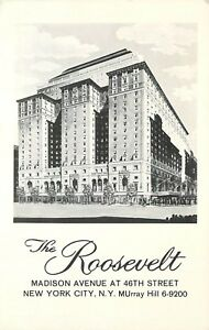 Roosevelt-Madison-Ave-at-46th-St-New-York-NY-MUrray-Hill-6-9200-Postcard