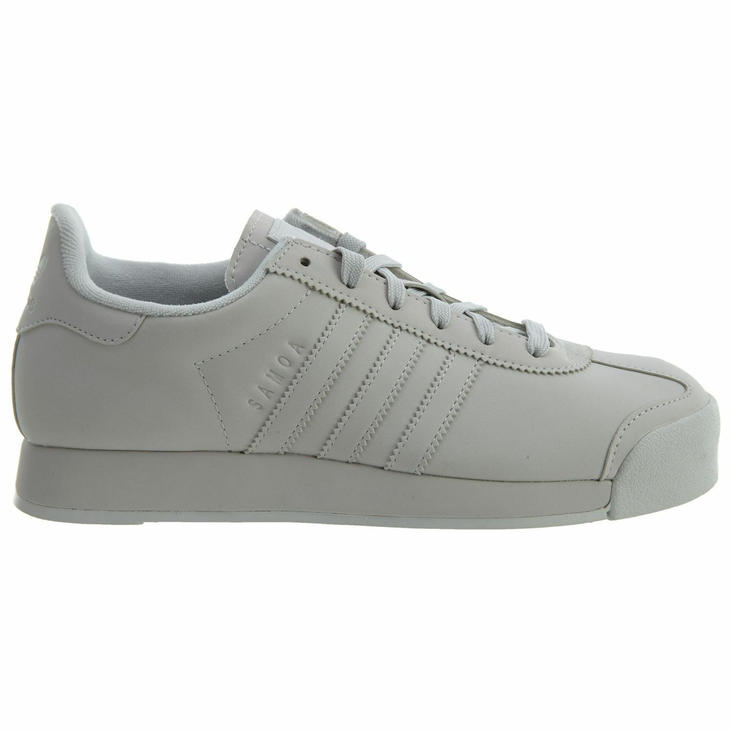 Adidas Samoa Plus Womens BY3527 Grey Faux Suede Athletic Shoes Wmns Comfortable